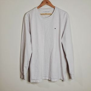 Tommy Hilfiger off white long sleeves men's top